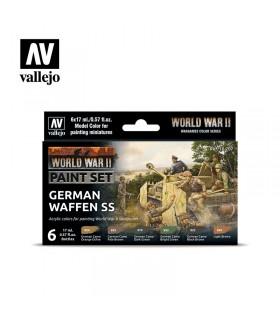 Conjunto da Segunda Guerra Mundial alemão Waffen SS Acrylicos Vallejo 70207