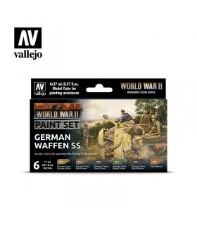 Set WWII German Waffen SS Acrylicos Vallejo 70207