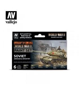 Seconda Guerra Mondiale armatura sovietica e fanteria Acrylicos vallejo 70202