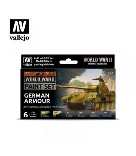 Set Armatura tedesca della seconda guerra mondiale Acrylicos Vallejo 70305