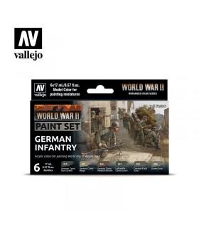 Impostare la fanteria tedesca della seconda guerra mondiale Acrylicos Vallejo 70206