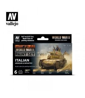 Conjunto da segunda guerra mundial de armadura italiana e infantaria Vallejo 70209