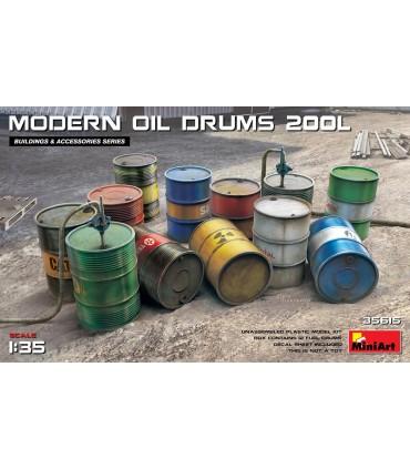 Accessoires Barils à huile modernes 200l MiniArt 35615 1:35