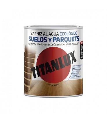 Barniz Poliuretano al agua Ecológico suelos y parquets satinado Titanlux 2,5l