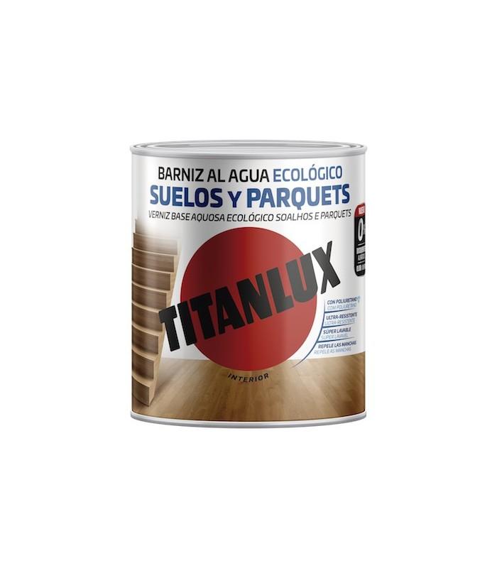 Barniz Poliuretano al agua Ecológico suelos y parquets brillante Titanlux 2,5l
