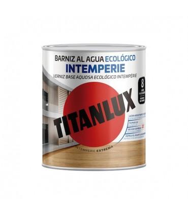 Barniz al agua ecológico intemperie brillante Titanlux 750ml