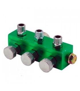 Coletor para 3 aerógrafos com válvulas.