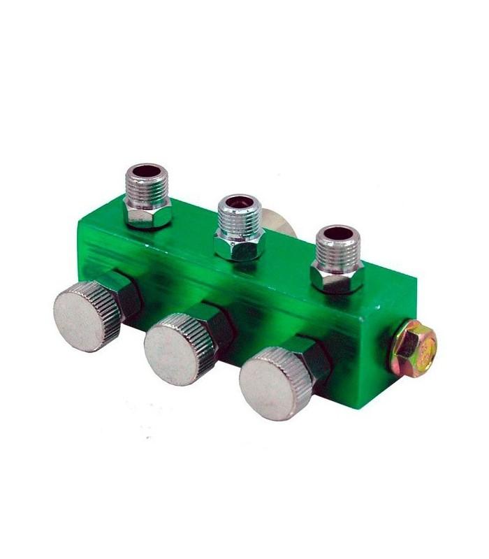 Collecteur pour 3 aérographes avec valves.