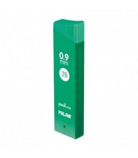 Cajita con 12 minas grafito 0.9 mm 2B