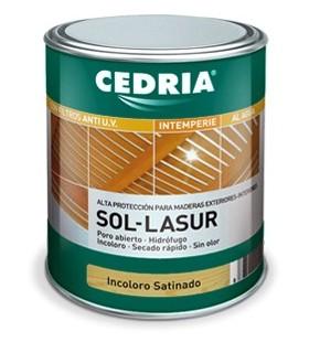 Cedria Sol Lasur al Agua Incoloro Satinado 4l.