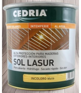 Cedria Sol Lasur in Water Colorless Matte 750ml.