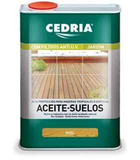 Cedria Aceite de Suelos color Miel 4L.