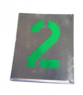 Plantillas de números de aluminio