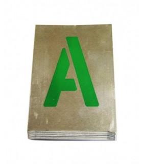 Plantillas de letras de aluminio