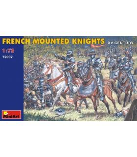Figuras de MiniArt Cavaleiros montados franceses. Escala XV: 1/72