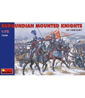 MiniArt Figuras Burgundian Mounted Knights XV escala 1/72