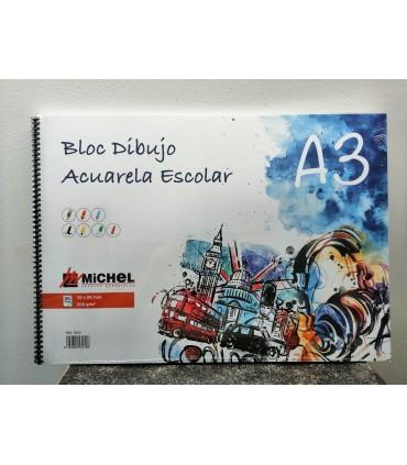 """Papel dibujo-acuarela """"Escolar Michel"""" A3"""