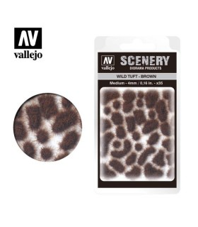 Scenery Wild Tuft Brown 4mm 0,16 in 35u. SC411