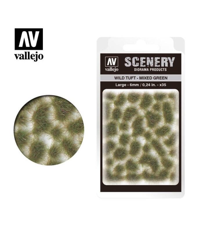 Scenery Wild Tuft Mixed Green 6mm 0,24 in 35u. SC416