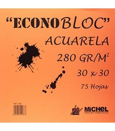 Bloc Acuarela Econobloc Michel 250gr/m2 30x30