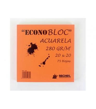 Bloc Acuarela Econobloc Michel 250gr/m2 20x20