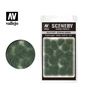Vallejo Scenery Wild Tuft Strong green 12mm/0,47 in. 35 u.