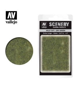 Vallejo Scenery Wild Tuft Dry Green 12mm/0.47 in. 35 u.