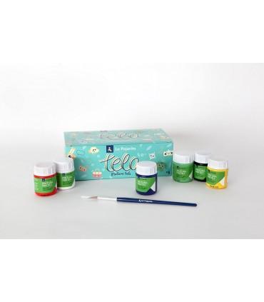 La Pajarita 6u Fabric Paint Kit.