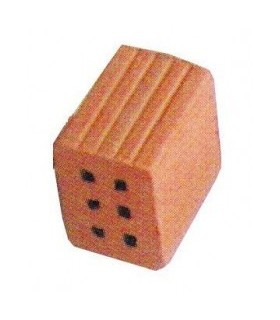 Cuit 2/3 of Hollow Brick 6 holes of 1 KG