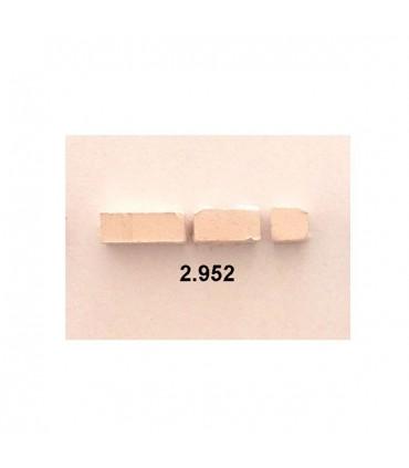 Cuit piedra blanca mosaico 6x6x12 mm 150 gr.