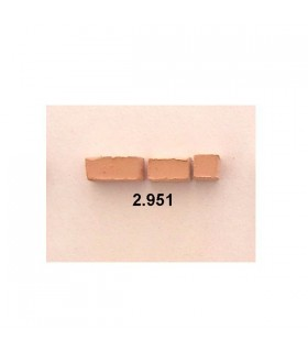 Cuit piedra mosaico rosada 6x6x12 mm de 150 gr.