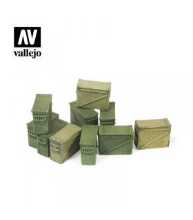 Vallejo Scenics Cajas grandes de munición de 12,7 mm.