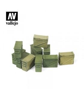 Vallejo Scenics Large 12.7mm ammo boxes.