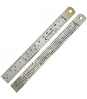 Régua 150 mm Aço inoxidável em mm Desmontador