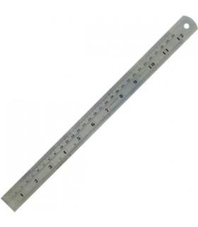 Regla 300 mm Acero inox pulg-mm Dismoer