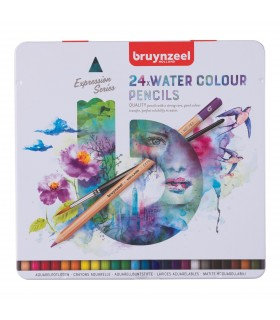 Estuche de 24 lápices de acuarela Expression Bruynzeel