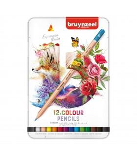 Estuche de 12 lápices colores Expression Bruynzeel