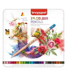 Estuche de 24 lápices colores Expression Bruynzeel