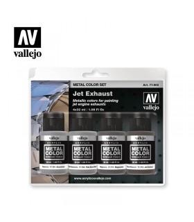 Set Metal color Jet Exhaust Vallejo 77602