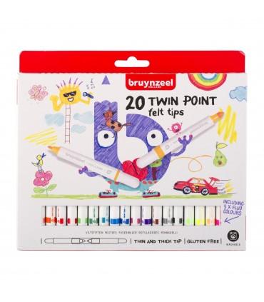 Set de 20 rotuladores Kids punta doble