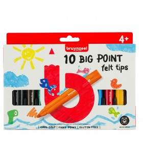 Set of 10 Kids Thick Tip Markers