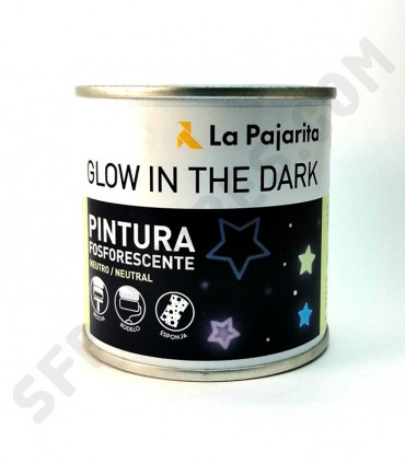 Pintura fosforescente neutro La Pajarita 250ml.