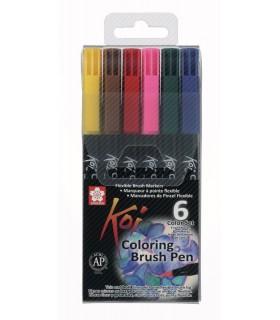 Set rotuladores Koi Color 6 unidades XBR-6B1