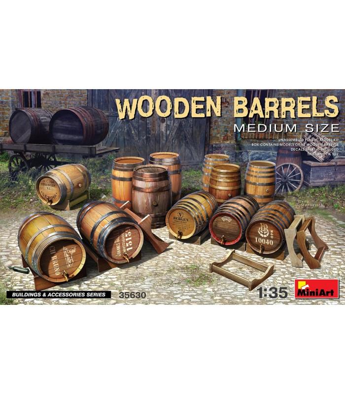MiniArt accesorios barriles madera 1:35 35630