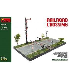 Miniart base diorama cruce de vias de tren 1:35 36059