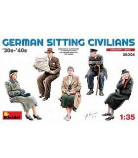 MiniArt figuras civiles alemanes sentados 1:35 38006