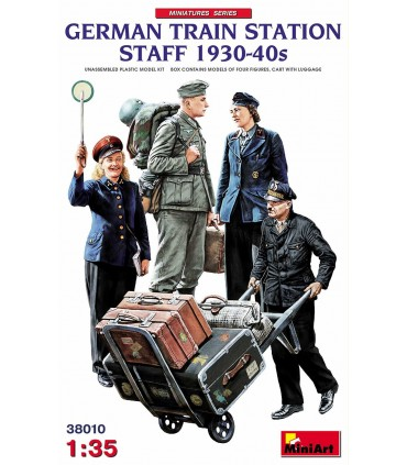 MiniArt figuras personal estación alemana 1930-40s 1:35 38010