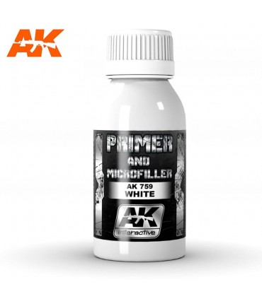 Primer blanco y microrelleno 100ml AK759
