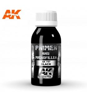 Primer negro y microrelleno 100ml AK757