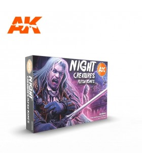Set AK Night Creatures flesh stones AK11602 6u.